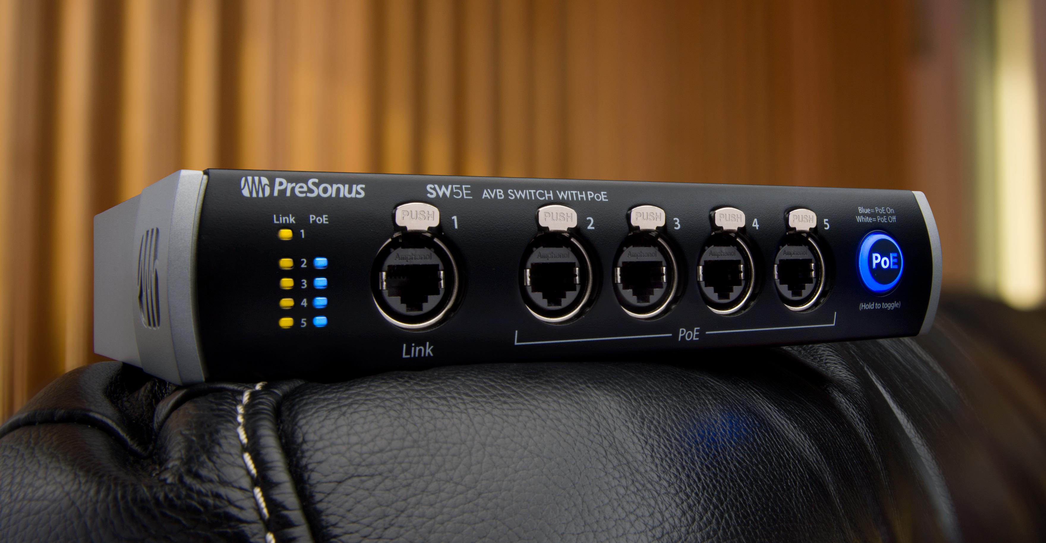 PreSonus SW5E AVB Switch a Great Choice for Live Sound