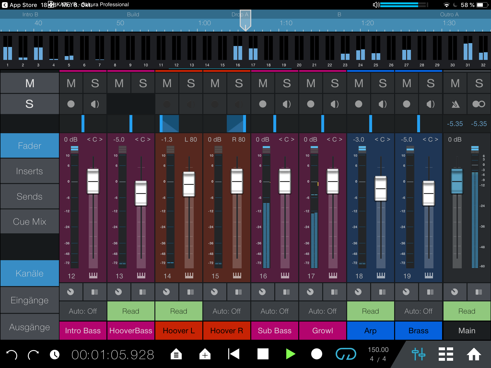Studio One Remote 1.4 Dark Theme